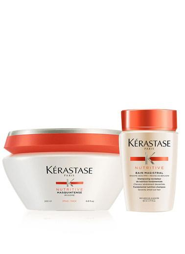 Kerastase Kerastase Kalın Telli Saçlar için Nem Maskesi - İrisome Masquintense 200 ml+ Nemlendirici Şampuan - Nutritive Bain Magistral 80 ml Renksiz